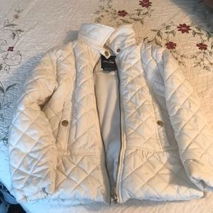 Girls zip up puffer jacket size 6